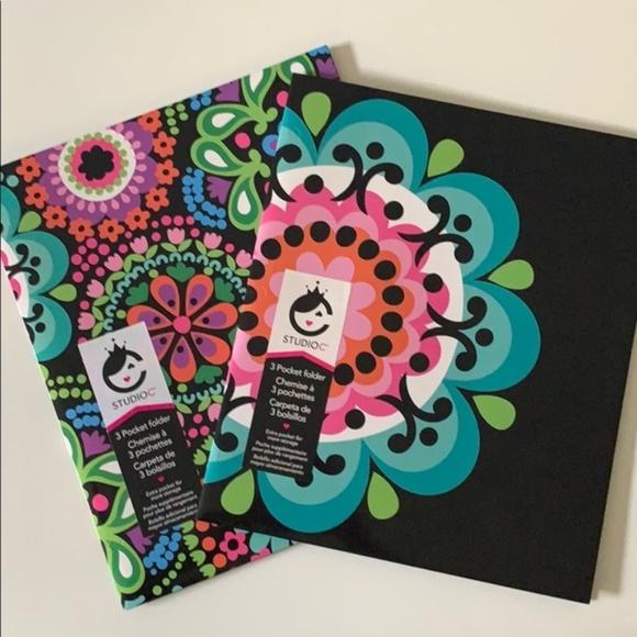 carolina pad Other - The Kaleidoscope collection 3 pckt folder set of 2